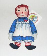 "Vintage 1991 The Toy Works, Macmillan 8"" Bean Bag Raggedy Ann, MWT, Made in USA"