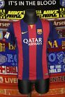 5/5 Barcelona boys 13-15 158-170cm 2014 MINT football shirt jersey trikot