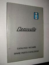 De Tomaso Deauville  1973 -  CATALOGO RICAMBI SPARE parts catalogue
