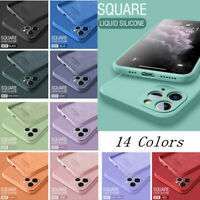 Square Liquid Silicone Silk Case Cover For iPhone 12 Pro Max 11 Pro XR XS X 8 7