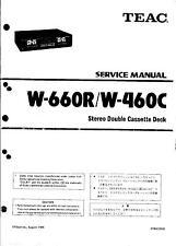 TEAC Service Manual per W - 660r/W - 460c