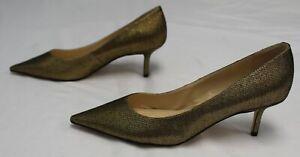 Nine West Women's Arlene Pointy Toe Pumps AW7 Gold Size US:12