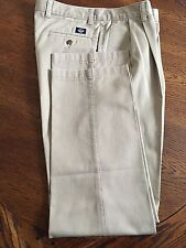 MEN'S DOCKERS PANTS CLASSIC FIT PLEATED 34 X 34 NO WRINKLE TWILL