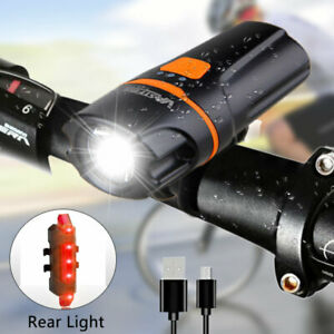 5000lm LED Lamp Rechargeable Bicycle Bike Safety Front Headlight light USB light