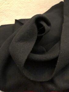 "1 yards x 60"" Black WOOL Fabric Length - Medium/Heavy Weight - Cloak Cape"