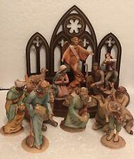 13 Piece Nativity Set By The Franklin Mint 1992