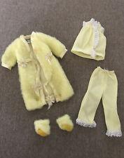 Vintage Skipper Doll #1749 Lemon Fluff Yellow Pajamas & Robe PJ's 1970 CUTE!
