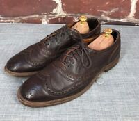 $420 Allen Edmonds Neumok 2.0 9 D Brown Wall Street Executive Wingtip Shoes