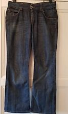 """TOMMY HILFIGER """"SALLY"""" BOOTCUT LEG BLUE JEANS - Waist 32 inches - Leg 32 inches"""