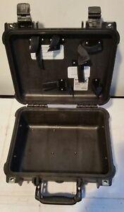 "Pelican Protector 1400 Black Case Modified Camera Lens Gun 11.8"" x 8.8"" x 5"""
