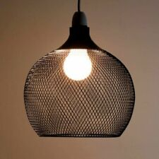 Modern Extra Large Industrial Metal Ceiling Lamp Light Pendant Mesh Cage