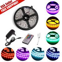 Multi-Color 5M 300 LED Flexible Strip Light 5050 3528 Power Supply Waterproof