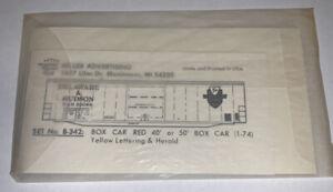 HERALD KING HO DECAL - DELAWARE & HUDSON / D&H 50' BOX CAR - ITEM #B-342