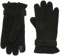 Dockers Men Genuine Leather & Knit Gloves Heritage Fit
