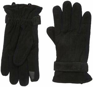 Dockers Men Genuine Leather & Knit Gloves Heritage Fit