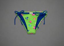 ABERCROMBIE & FITCH Women's Swimwear Bikini Bottom Green Fish Size M