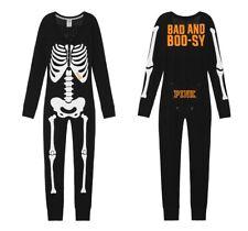 Victoria Secret PINK Halloween Skeleton One Piece Long Jane/Jumpsuit/Pajamas S