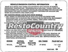 Holden Commodore V8 Emission Control Decal VH VK 5.0 Litre Inc Hdt sticker label