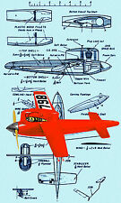 Build a Vintage Model 1/2 A Control line Speed Plane Speed Bug F/S Printed Plan