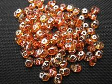 100 ST. Rocailles duo beads 5x2mm dark aprikose 10200