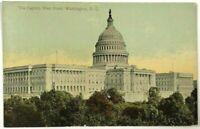 Capitol Building West Front View Washington DC Vintage 1900's 1910's Postcard