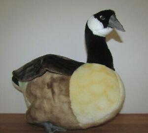 """Large plush Canada Goose toy by Hansa Creation, realistic, 15"""" high 16' long"""