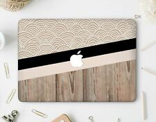Wood Case Macbook Pro 13 15 Stripes Vinyl Decal Macbook Air 11 13 Custom Cover