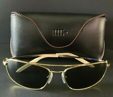 MOSLEY TRIBES Aviator Style Sunglasses SCOUT G GOLD/ GREEN VFX Lens *NEW w/ CASE