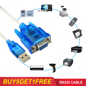USB 2.0 to Serial RS232 Female 9 Pin DB9 Adapter Converter Cable Windows XP 7 8