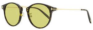 Tom Ford Oval Sunglasses TF673 Jamieson 52N Dark Havana/Gold 51mm FT0673