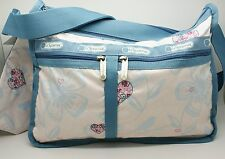 LeSportsac Deluxe Everyday Bag Hearts Embroidery Floral Crossbody Hawaii  NWT