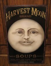 Harvest MOON Man Face/Ohio Soup SIGN*French Country/Primitive Wall Kitchen Decor