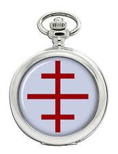 Papal Cross Christian Pocket Watch