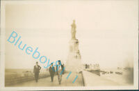 1929 Egypt Port Said Ferdinand de Lesseps Memorial  3.5 x 2.25 Inch Orig Photo