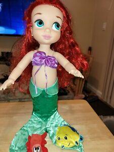 "DISNEY Store Animator Doll Ariel Little Mermaid Princess Toddler 16"""