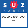 09200-08061-000 Suzuki Pin 0920008061000, New Genuine OEM Part