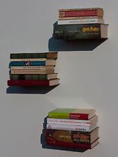 3er Set Bücherturm unsichtbares Bücherregal Regal schwebend Geschenk Designer