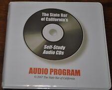 THE STATE BAR OF CALIFORNIA'S SELF-STUDY AUDIO CD'S AUDIO PROGRAM 11 DISKS 2007