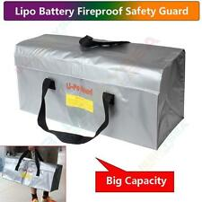 Grand Lipo Sécurité Guard Bag Argent Résistant au feu Stockage Chargeur Sac pour