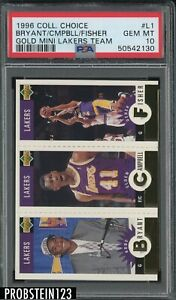 1996 Collector's Choice Gold Mini Lakers Team w/ Kobe Bryant RC HOF PSA 10