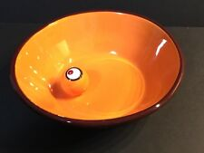 "Starbucks Halloween Orange Eyeball Candy Bowl 8.5"" 2006 Trick Or Treat Spooky!"
