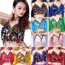 Sequin Shiny Club Top Beaded Halter Bra Top Sequin Beaded Women Girls Costume