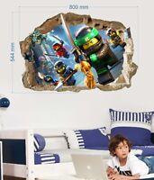 Lego ninjago Wall stickers Vinyl home mural Decal Art mural Decor kids 57x80cm
