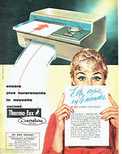 PUBLICITE ADVERTISING 076  1959  Minnesota machine à écrire Thero-fax  secretary