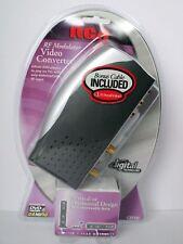 *RCA RF MODULATOR VIDEO CONVERTER VCR DVD RCA OR VIDEO GAME TO F COAX