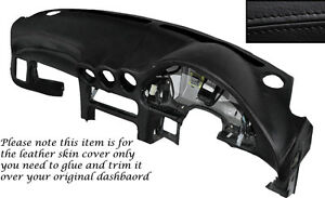 BLACK LEATHER DASH DASHBOARD SKIN COVER FITS MITSUBISHI GTO 3000GT 1992-1999
