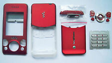 sony ericsson w580i. red fascia facia housing cover faceplate case for sony ericsson w580 w580i