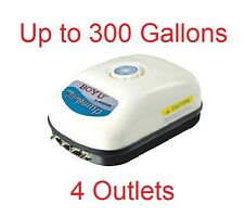 300 Gallon Adjustable Silent Air Pump Large Aquarium Fish Tank 4 outlet 9w