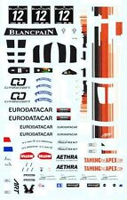 #12 Eurodatacar Mclaren MP4/12C GT3 1/64th HO Scale Slot Car Waterslide Decals