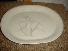 CORELLE SPRING POND 12.25 IN OVAL SERVING PLATTER VGUC FREE SHIPPING IN USA